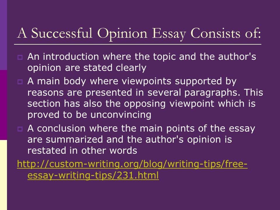 essay consist of