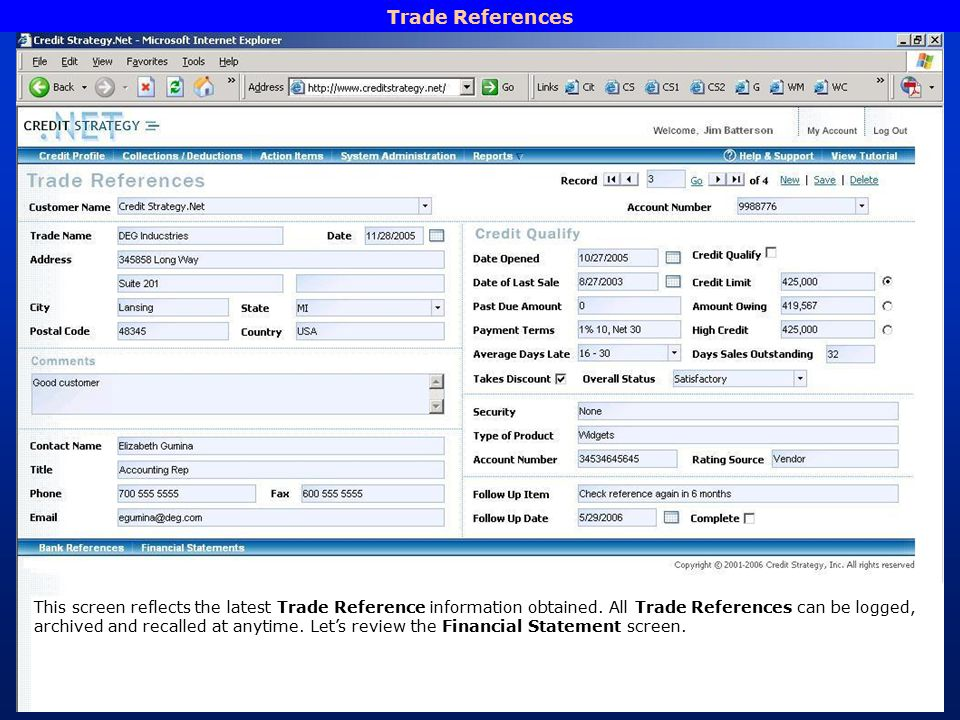 what are trade references on a credit application