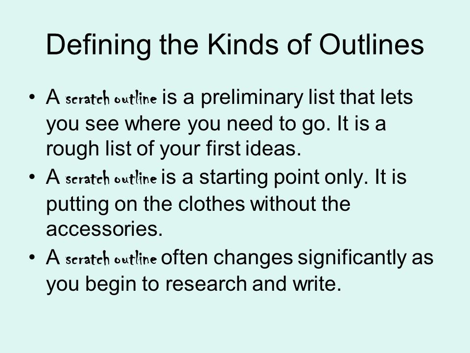 definition of a outline