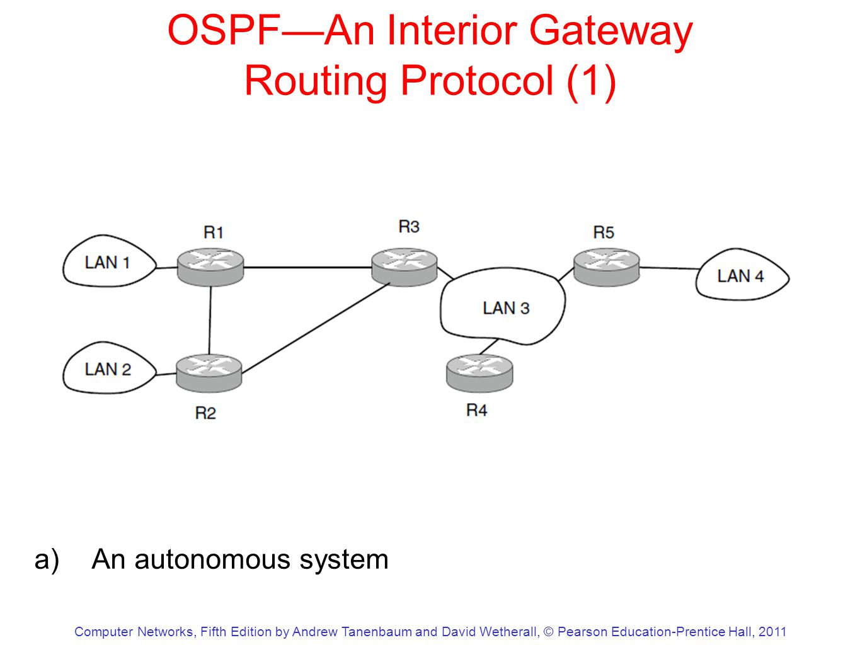 open shortest path first an interior gateway protocol
