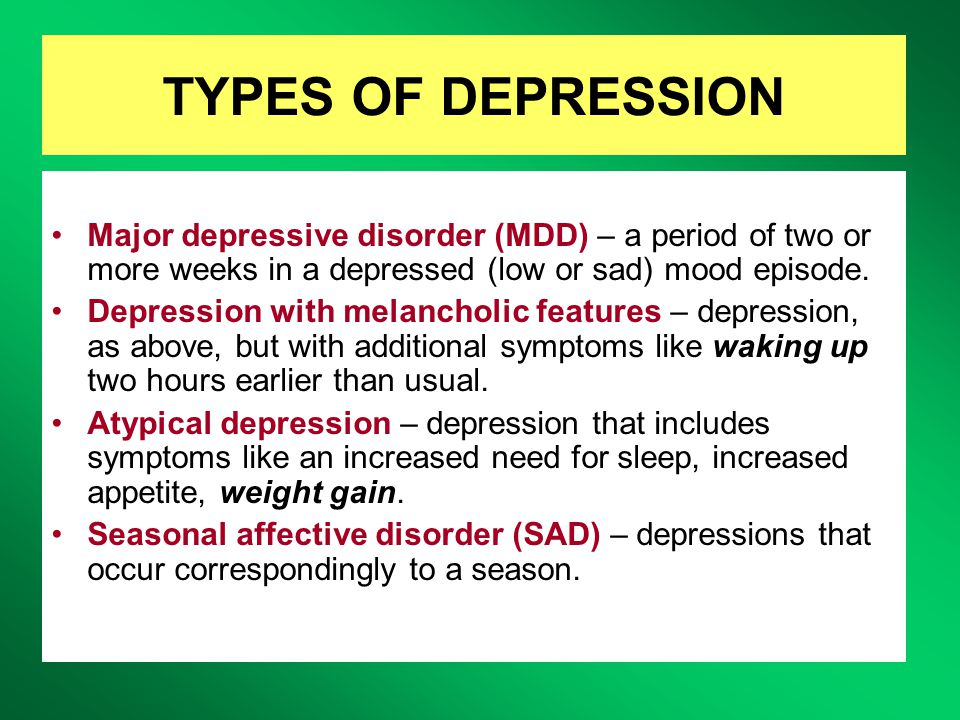 the major causes of depression Depression is a disorder of the brain there are a variety of causes, including genetic, biological, environmental, and psychological factors depression can happen at any age, but it often begins in teens and young adults it is much more common in women.