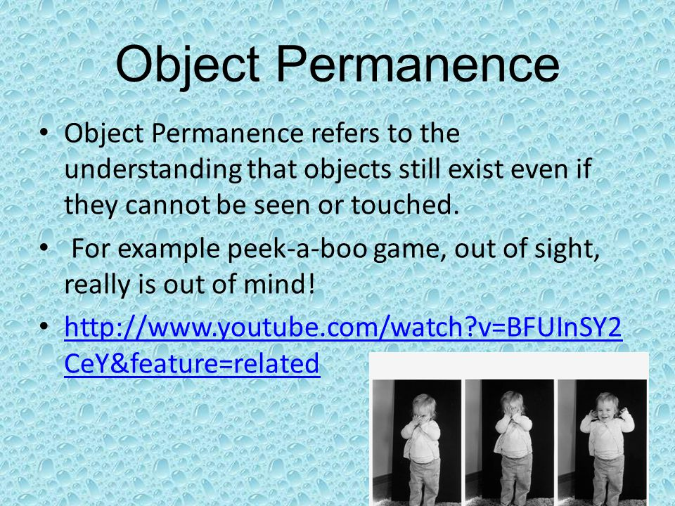 the development of object permanence