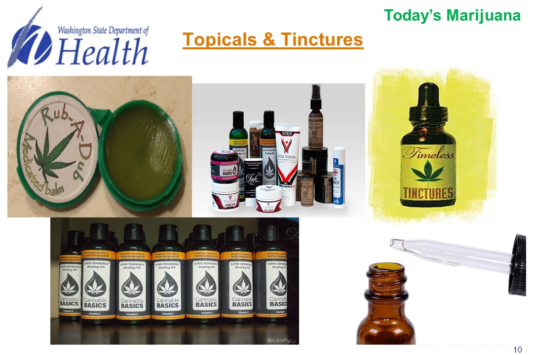 10 Topicals & Tinctures Today's Marijuana