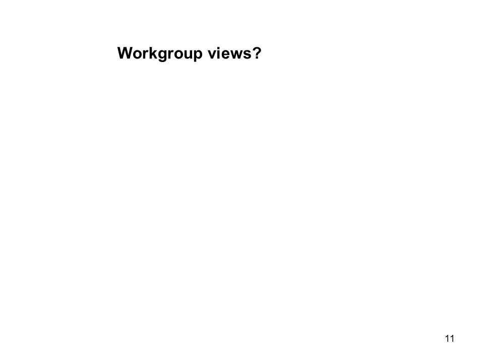 11 Workgroup views