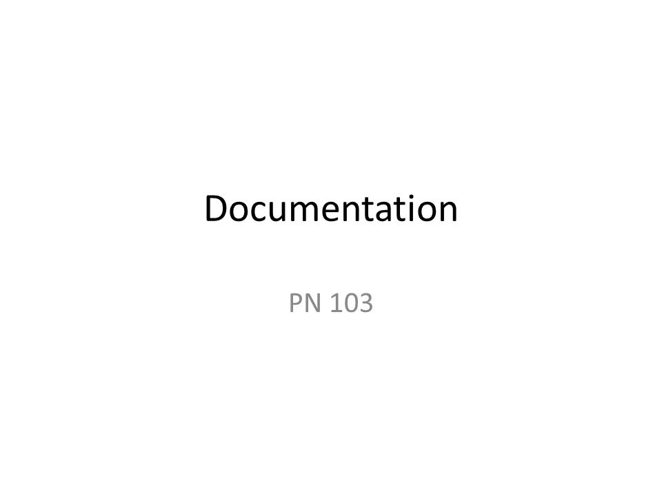 Documentation PN 103