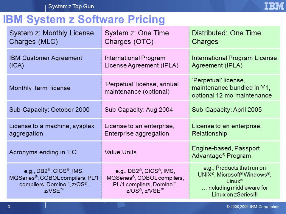 System z top gun 20082009 ibm corporation 1 system z software 3 system platinumwayz