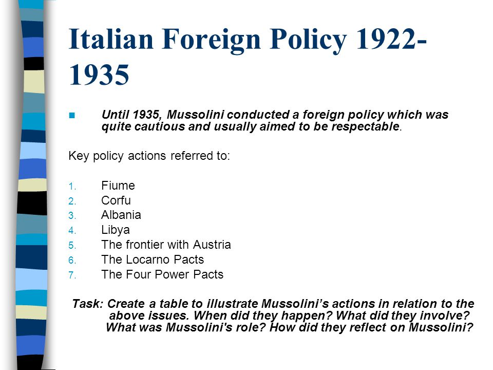 mussolini foreign policy