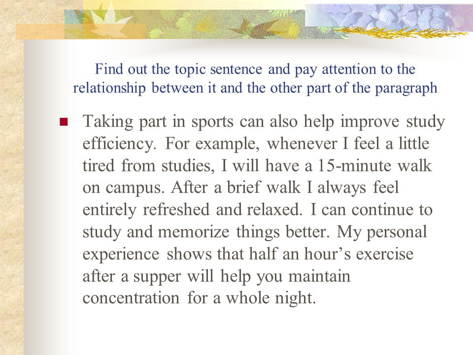 What would be a good topic sentence for a persuasive essay on boxing?