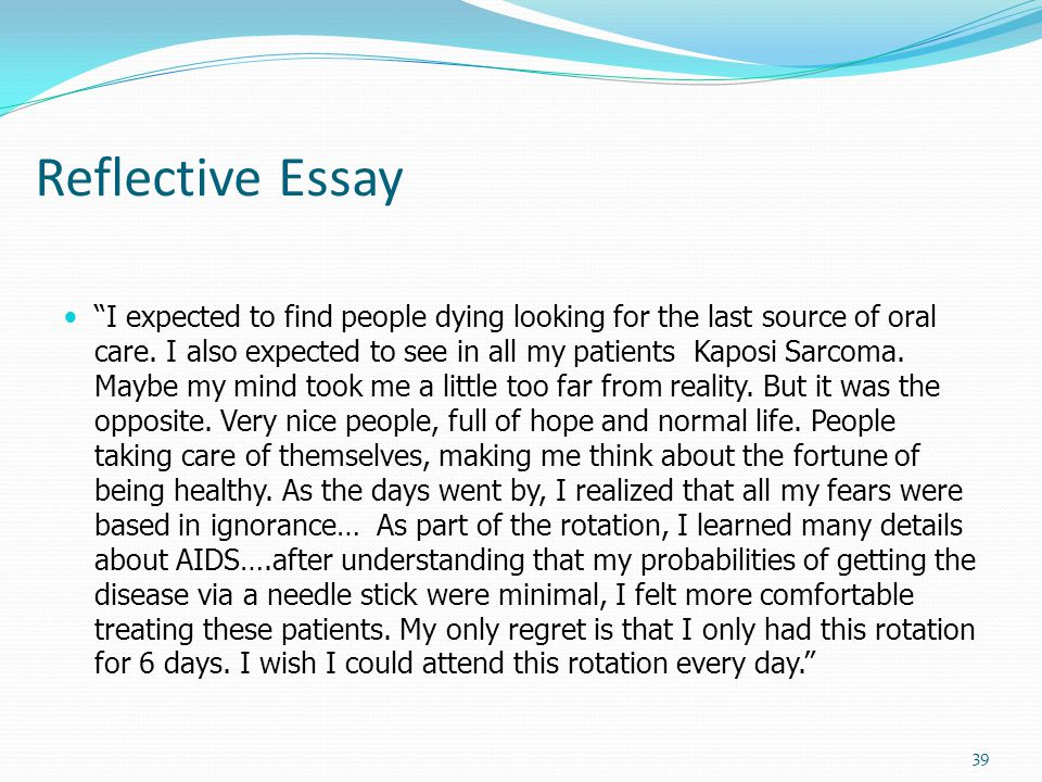 reflective essays about life
