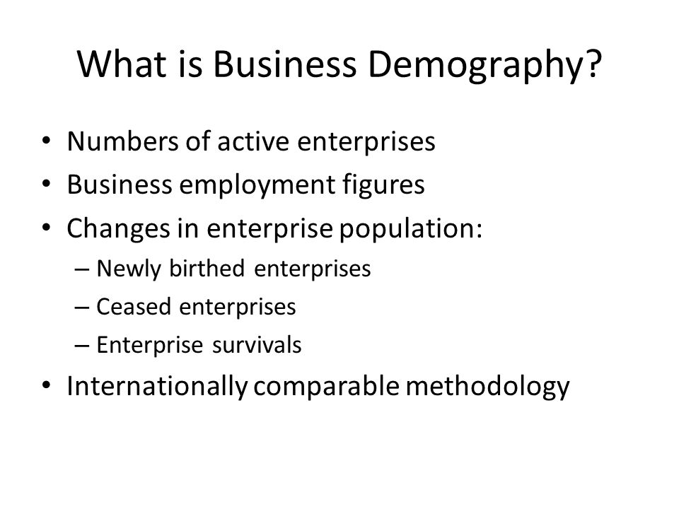 What is Business Demography.