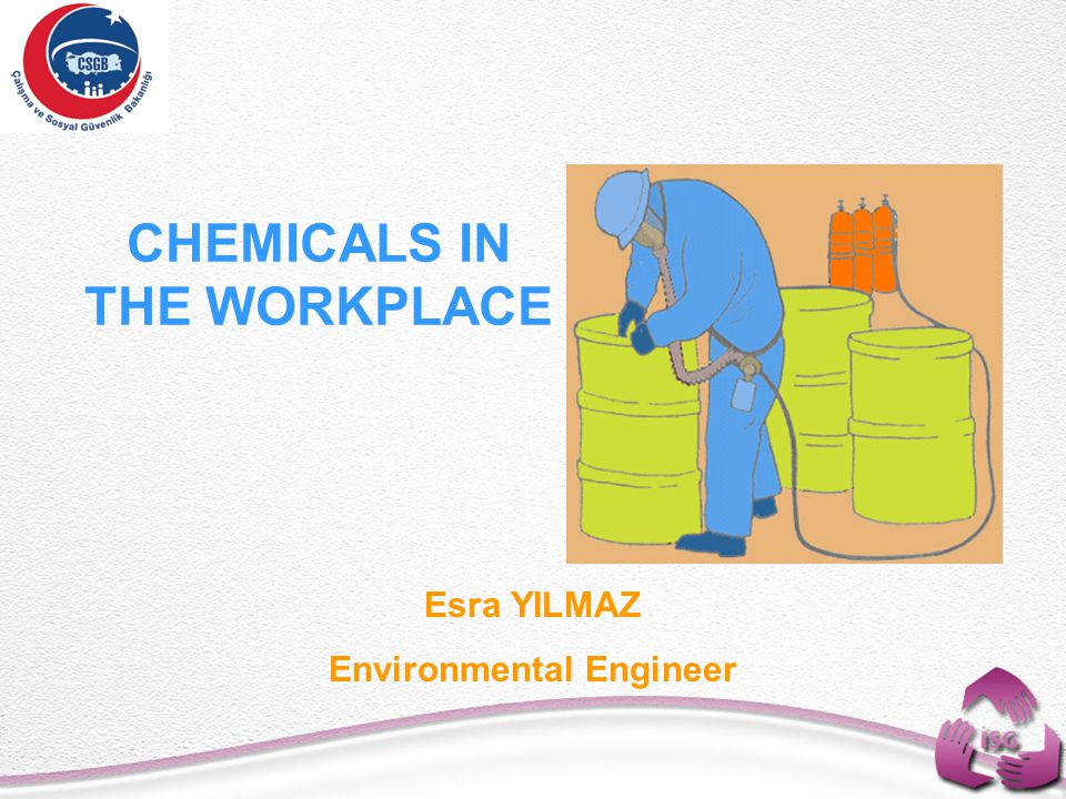 CHEMICALS IN THE WORKPLACE Esra YILMAZ Environmental Engineer