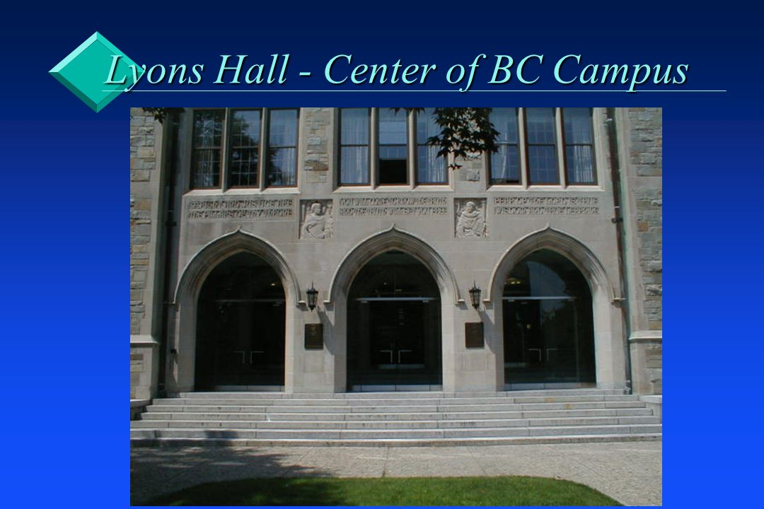Lyons Hall - Center of BC Campus