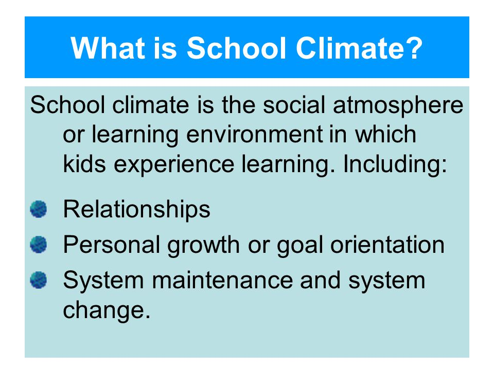 What is School Climate.