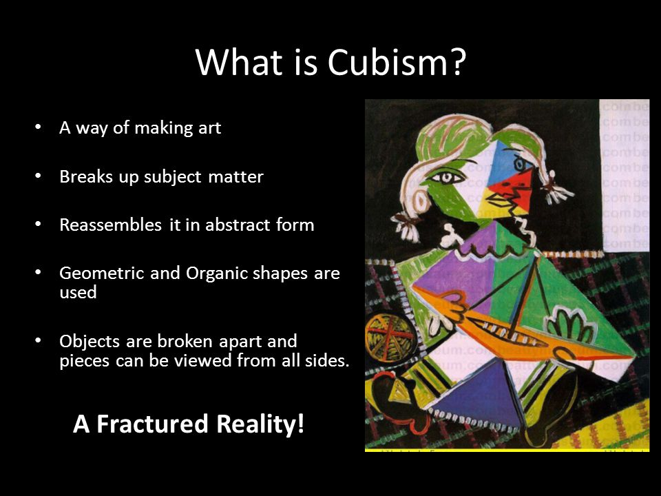 What is Cubism.