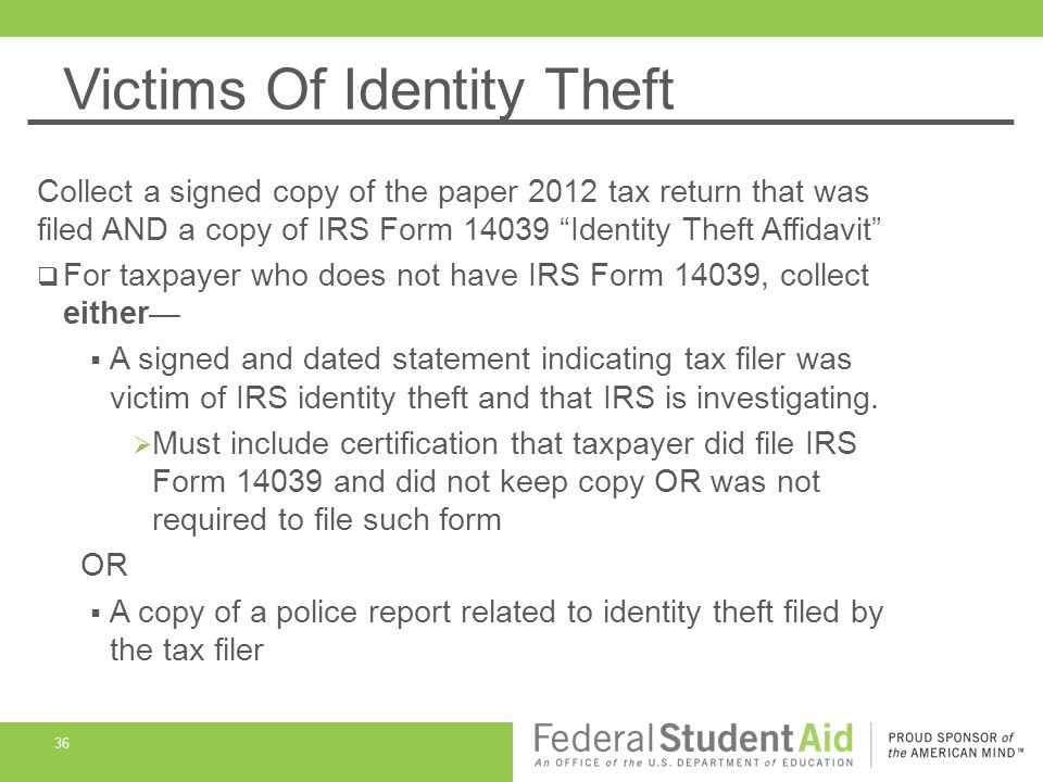 What is IRS Form 14039?