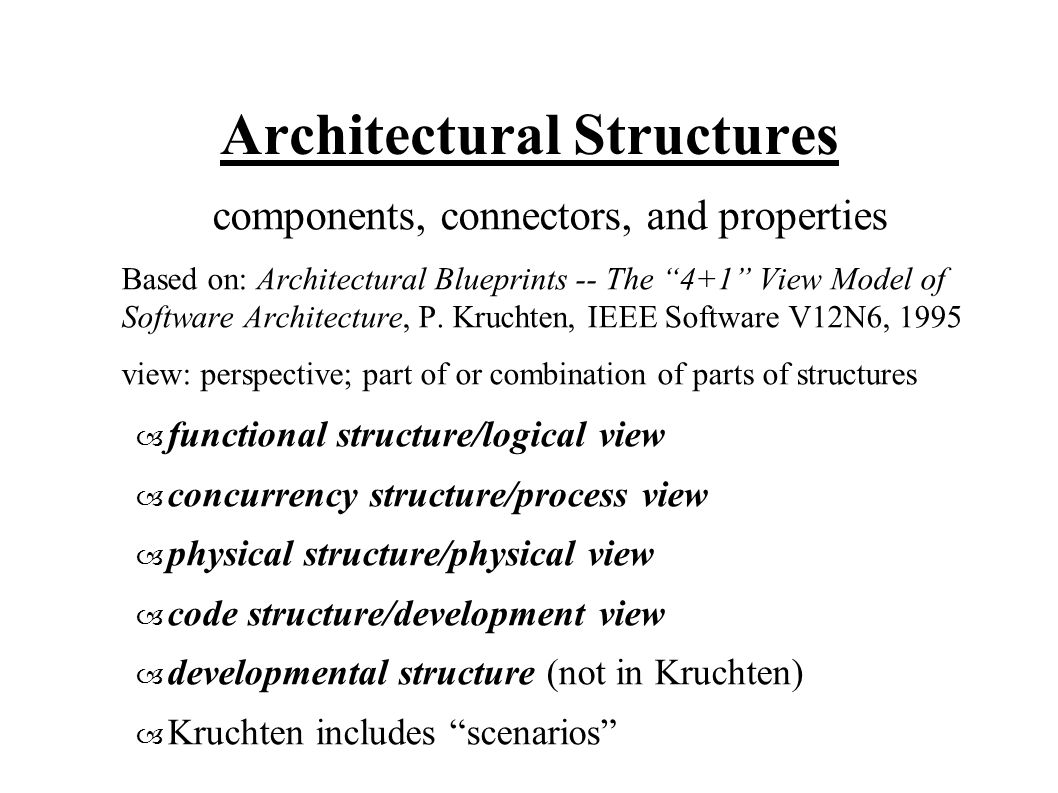 16 Architectural Structures Components