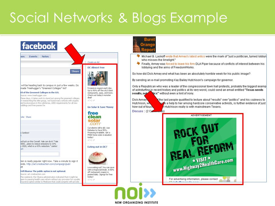 Social Networks & Blogs Example