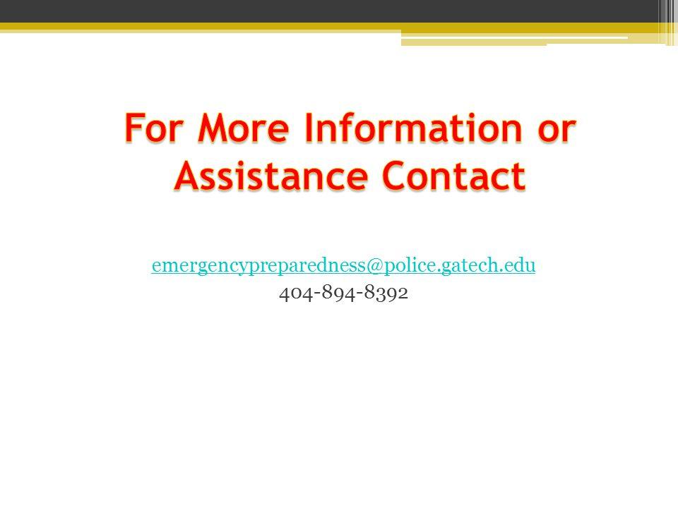 emergencypreparedness@police.gatech.edu 404-894-8392