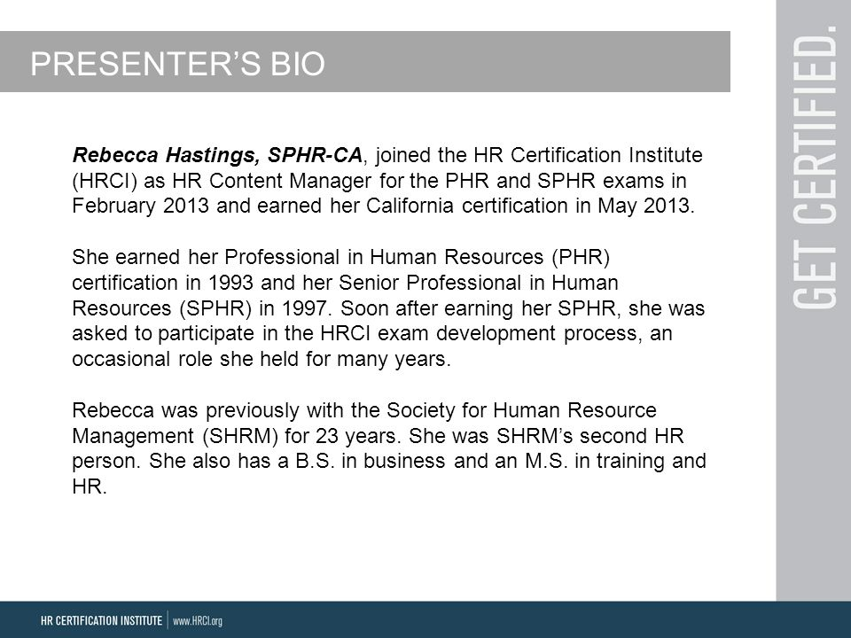 Phr Certification Requirements Free Professional Resume
