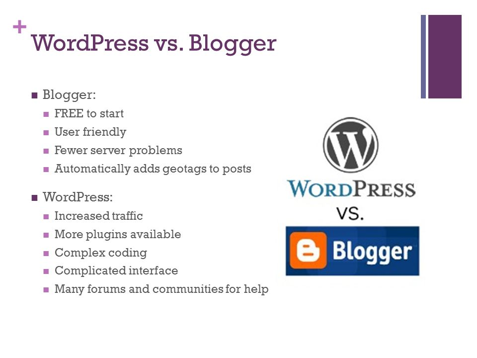 + WordPress vs.