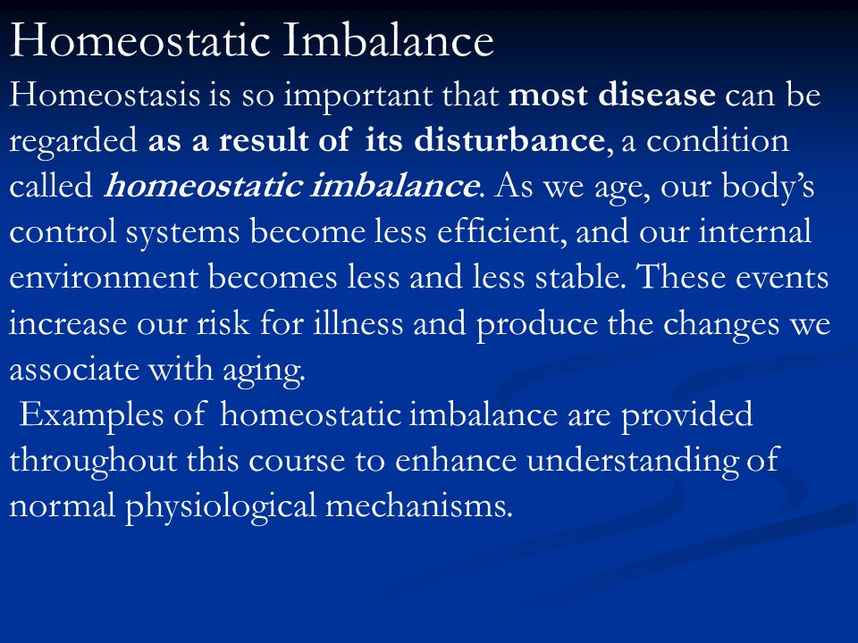 homeostatic imbalance a person on dialysis A and p ii homeostatic imbalances a person on dialysis might facefc homeostasis is when your body systems are functioning as expected due to proper.
