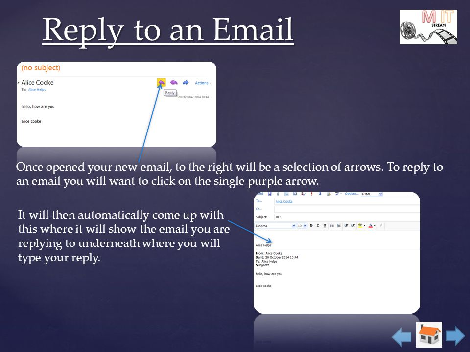 alice webmail auto reply option