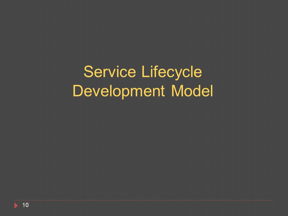 10 Service Lifecycle Development Model