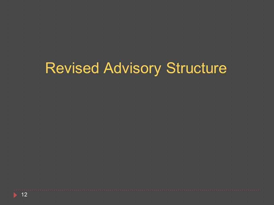 12 Revised Advisory Structure