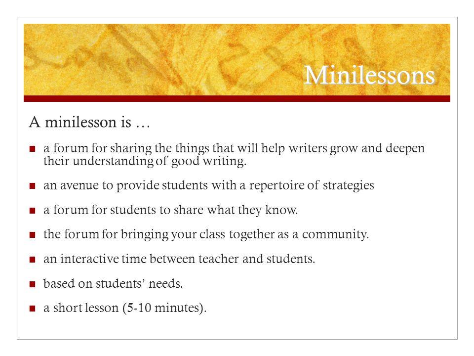 essay writing workshop lesson