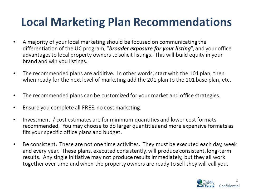 real estate listing marketing plan