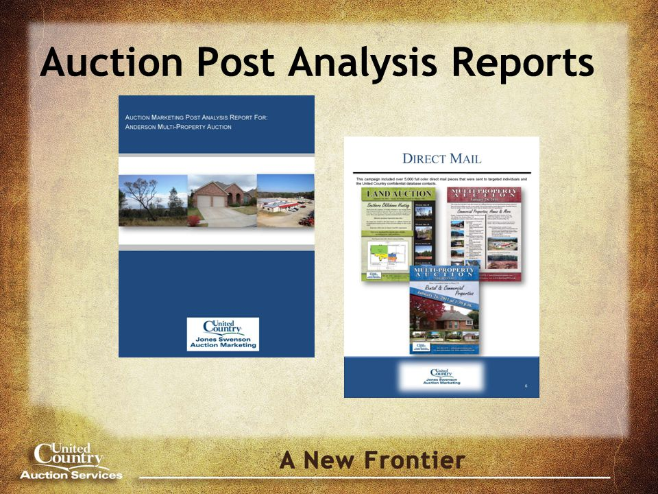 Auction Post Analysis Reports