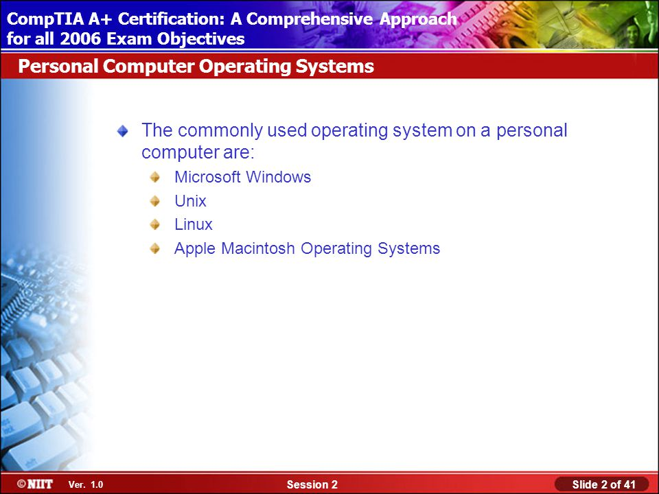 Installing Windows XP Professional Using Attended Installation Slide 2 of 41Session 2 Ver.