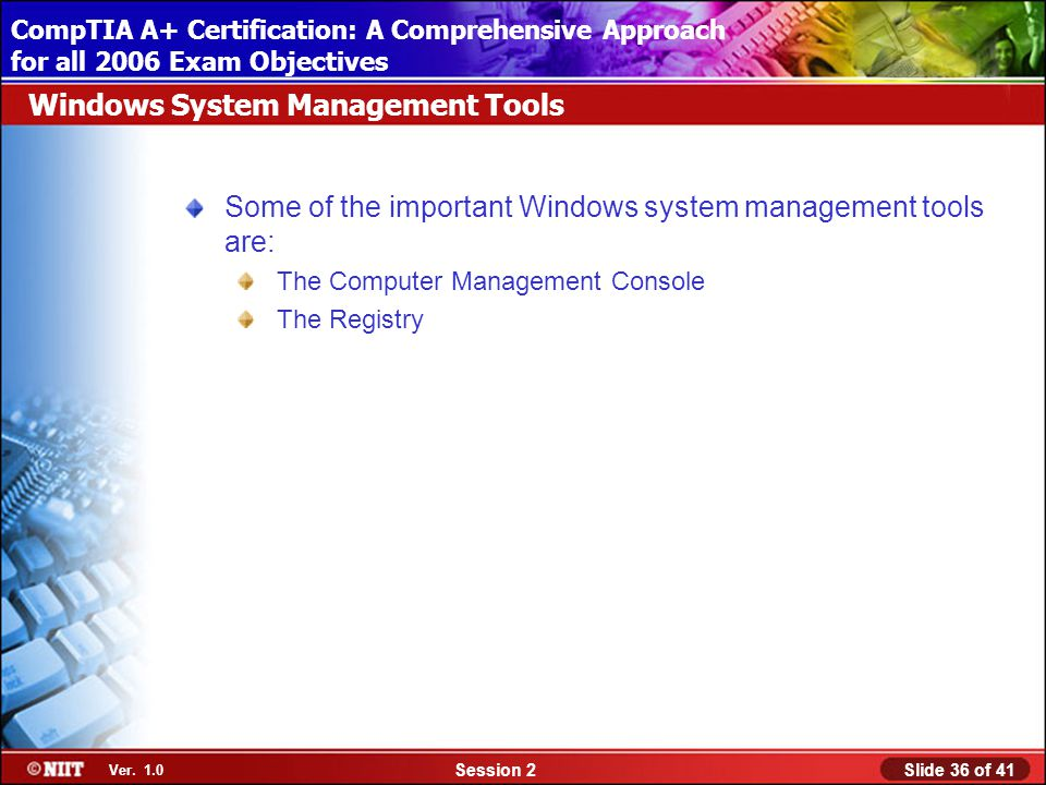 Installing Windows XP Professional Using Attended Installation Slide 36 of 41Session 2 Ver.