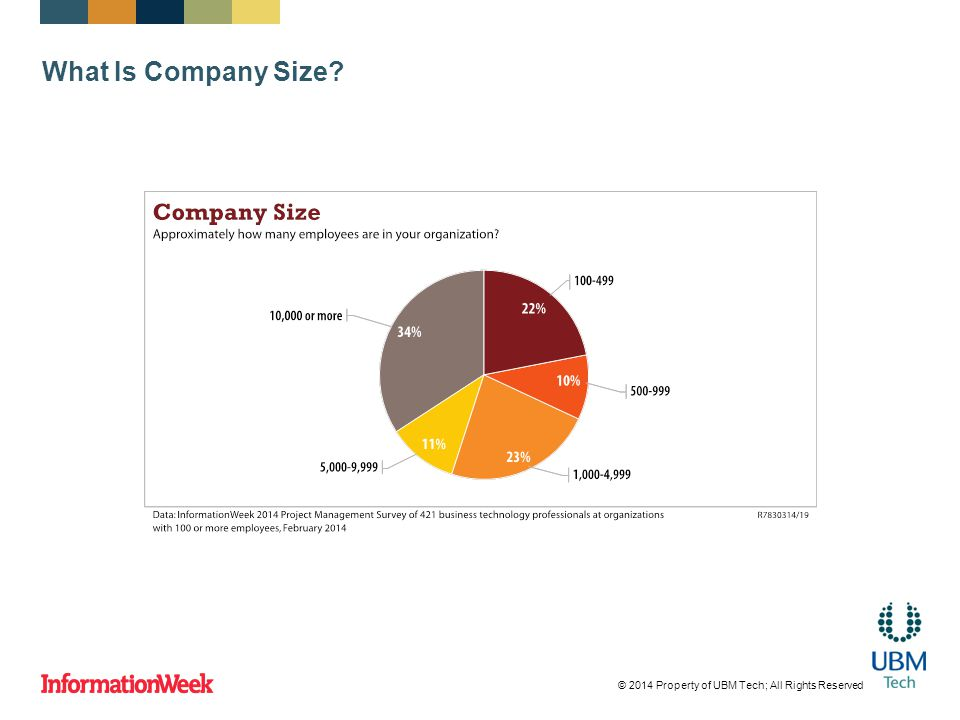 What Is Company Size © 2014 Property of UBM Tech; All Rights Reserved