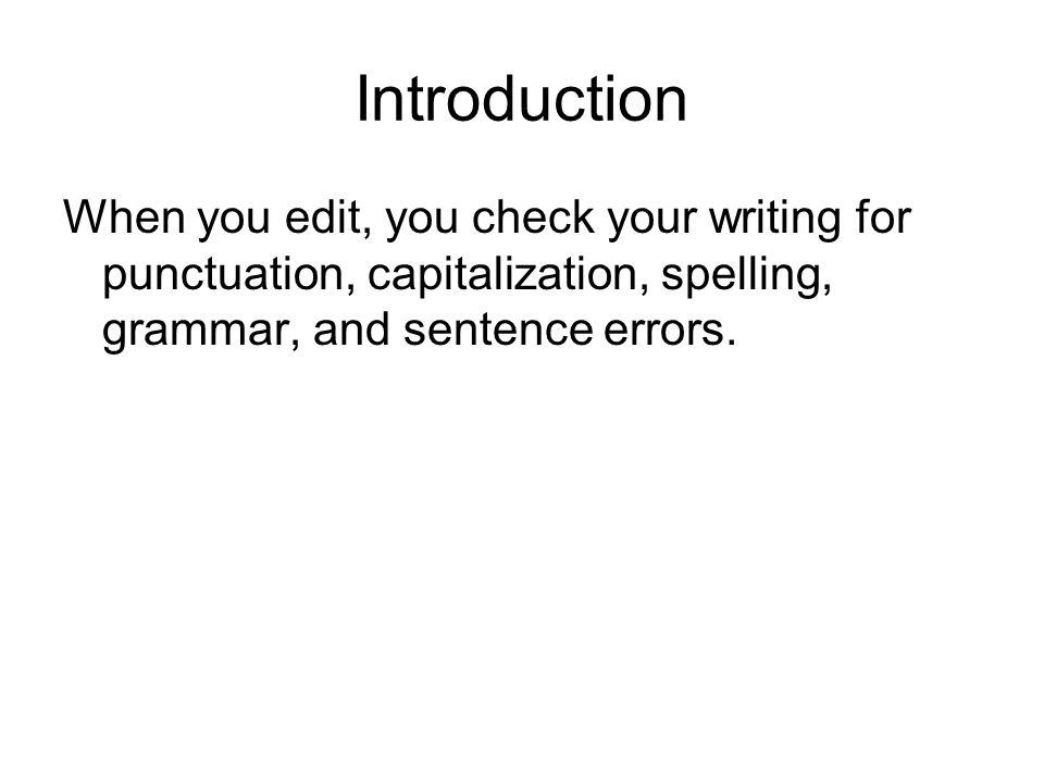 Edit sentence