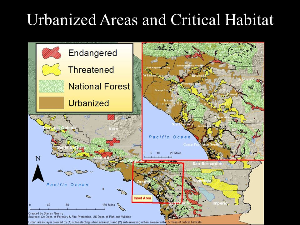Urbanized Areas and Critical Habitat