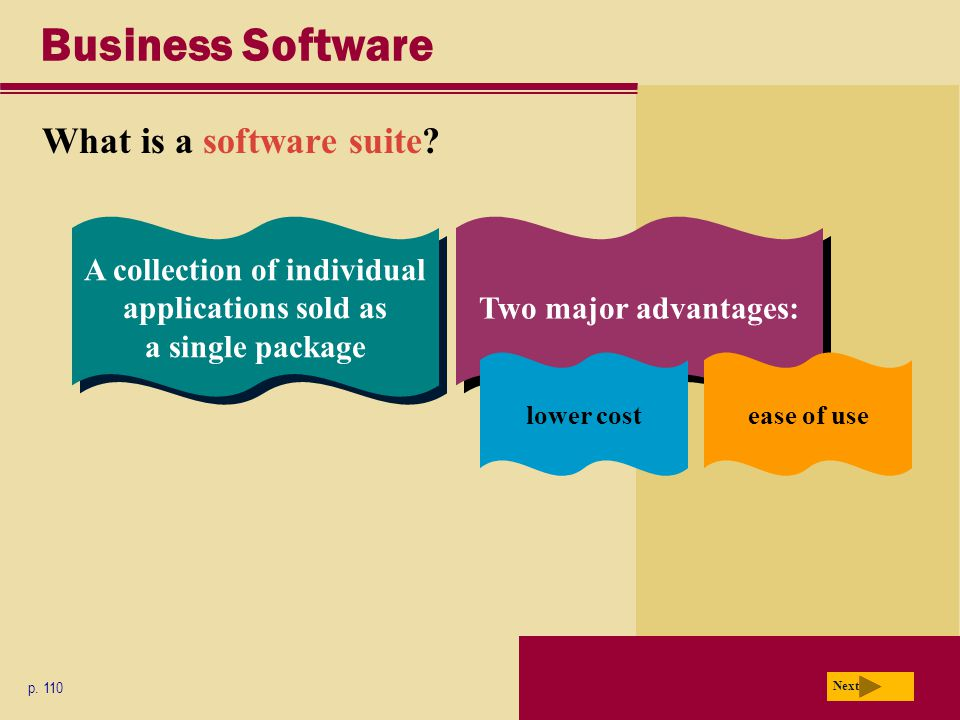 Business Software What is a software suite. p.