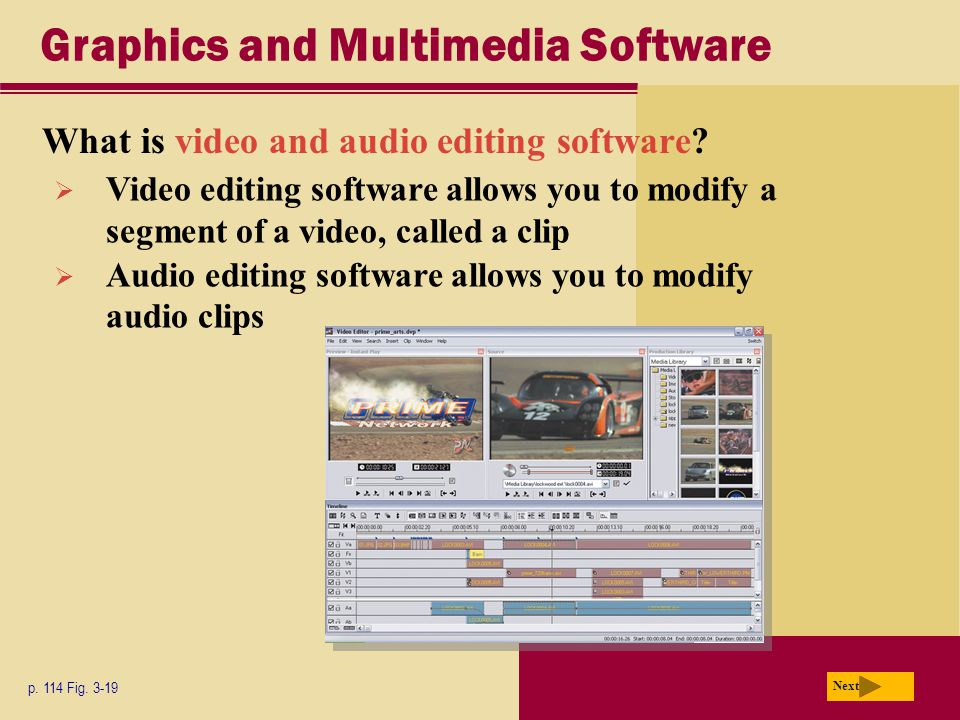 Graphics and Multimedia Software What is video and audio editing software.