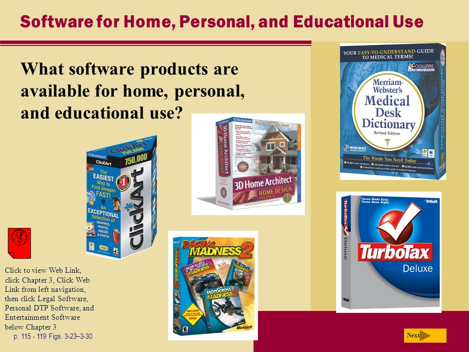 Software for Home, Personal, and Educational Use What software products are available for home, personal, and educational use.
