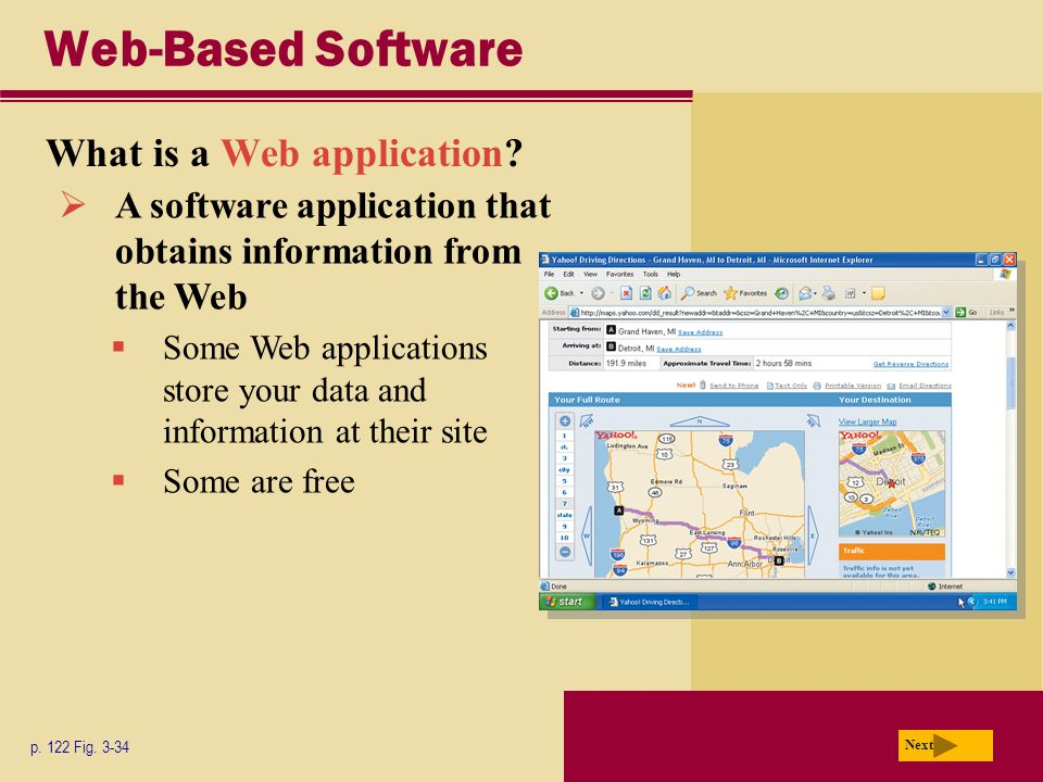 Web-Based Software What is a Web application. p. 122 Fig.