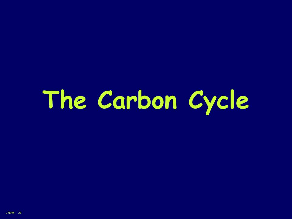 JTH14 29 The Carbon Cycle
