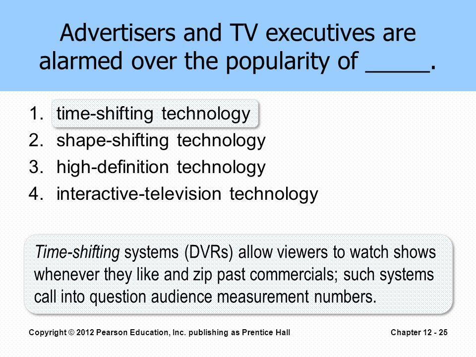 Advertisers and TV executives are alarmed over the popularity of _____.