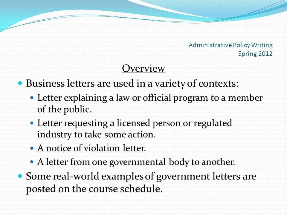 How to write an overview