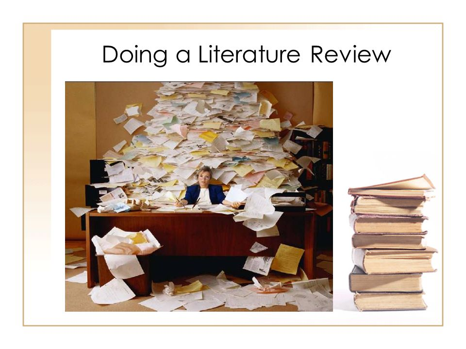 Doing literature review