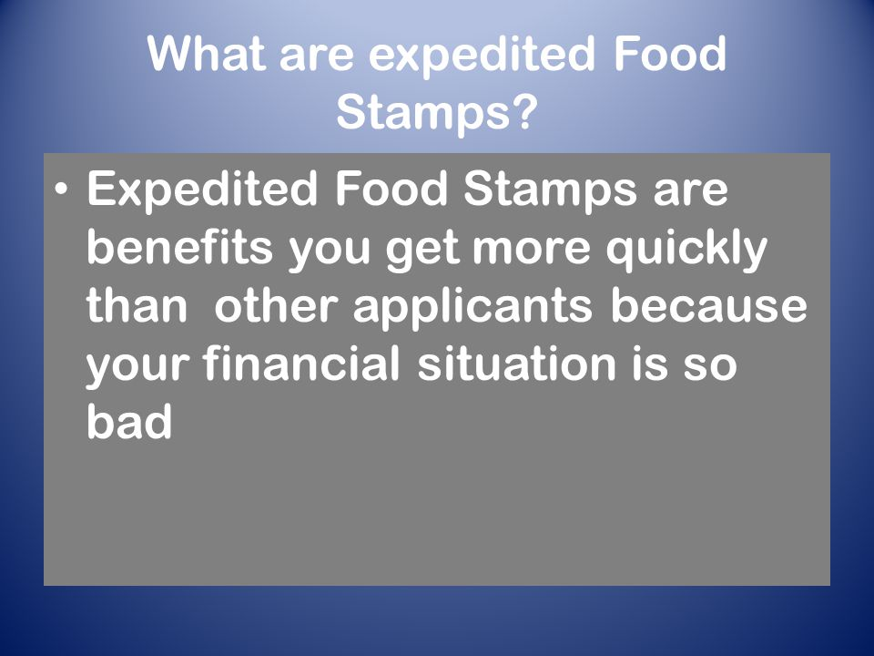 Food stamps supplemental nutrition assistance program in a what are expedited food stamps ccuart Choice Image