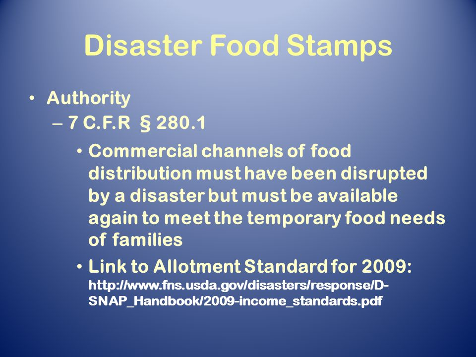 Food stamps supplemental nutrition assistance program in a 5 disaster ccuart Choice Image