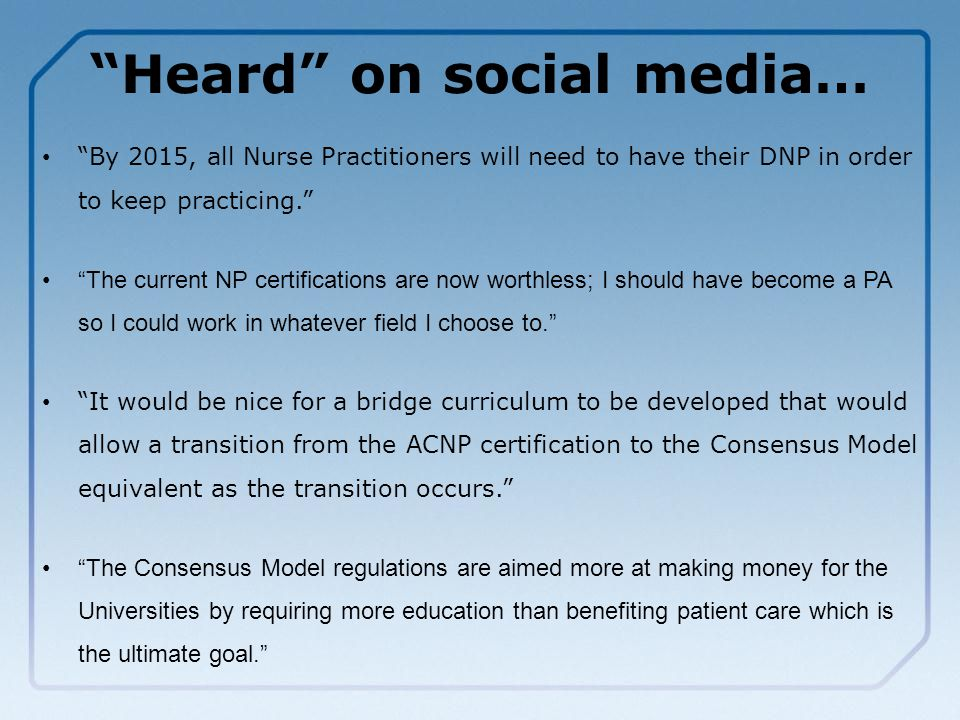 The Consensus Model For Aprn Regulation Licensure Accreditation