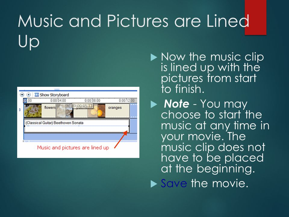 Shorten an Audio Clip  Hover the mouse over the end of the music clip until it becomes a two- headed arrow.