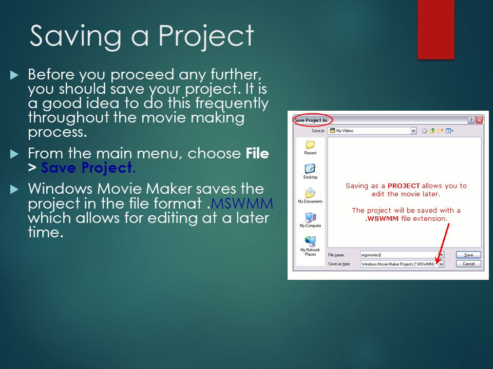 Steps to Import Pictures (continue)  Drag your pictures to the Storyboard area of the window.