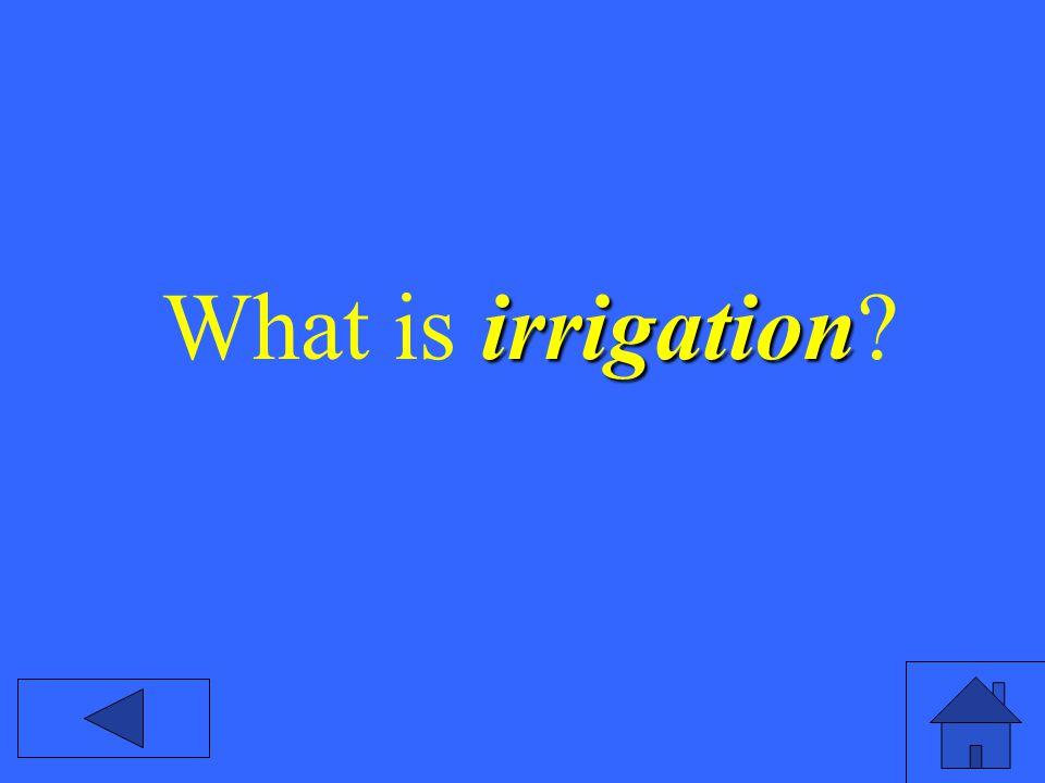 irrigation What is irrigation